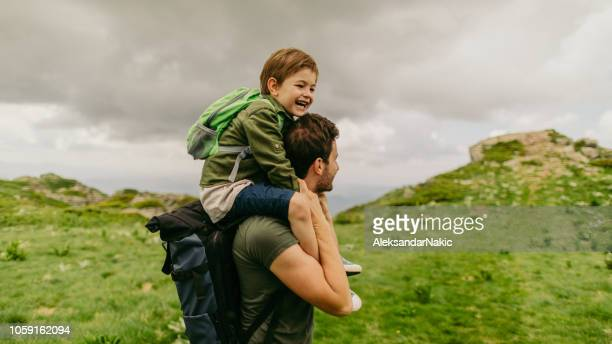 hiking with my father - fathers day stock pictures, royalty-free photos & images