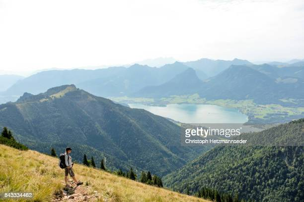 hiking woman - upper austria stock pictures, royalty-free photos & images