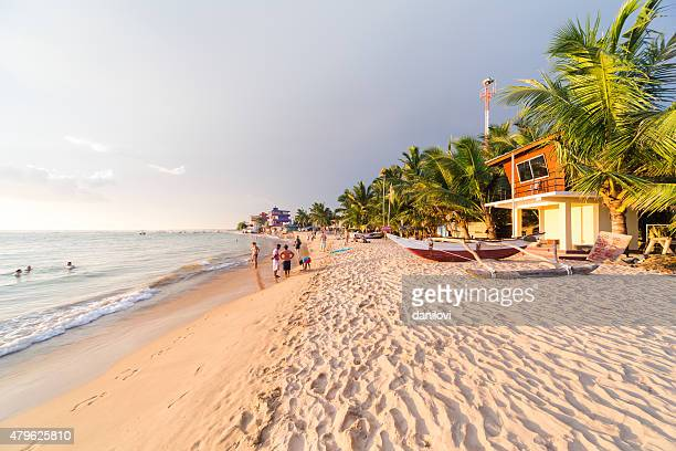 hikkaduwa coral beach, sri lanka - sri lanka stock pictures, royalty-free photos & images