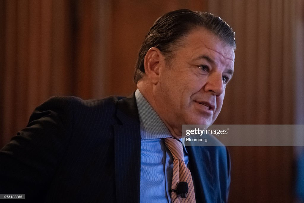 Hikmet Ersek, president and chief executive officer of Western Union Co., speaks during an Economic Club of New York event in New York, U.S., on Wednesday, June 13, 2018. The 50-day moving average of Western Union Co. shares roseabovetheir 200-day moving average. Photographer: Mark Kauzlarich/Bloomberg via Getty Images