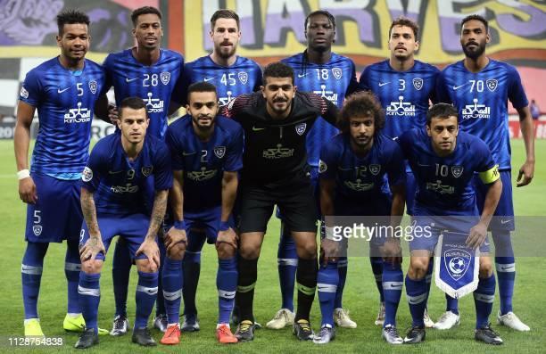 Hilal's defender Ali al Bulaihi midfielder Mohamed Kanno defender Milos Degenek forward Bafetimbi Gomis midfielder Carlos Eduardo defender Mohammed...