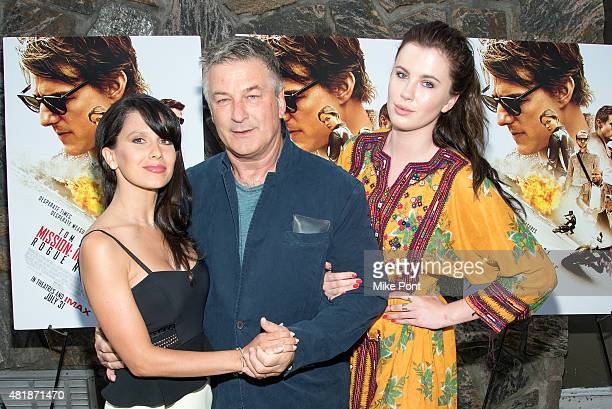 Hilaria Baldwin Alec Baldwin and Ireland Baldwin attend the Mission Impossible Rogue Nation Hamptons screening at United Artists East Hampton Cinema...
