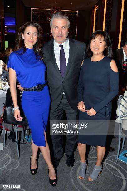 Hilaria Baldwin Alec Baldwin and Maya Lin attend the Guild Hall Academy of the Arts Achievement Awards Benefit Dinner at The Rainbow Room on March 13...