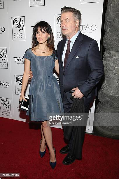 Hilaria Baldwin and actor Alec Baldwin attend 2015 New York Film Critics Circle Awards at TAO Downtown on January 4, 2016 in New York City.