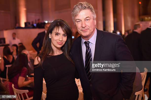 Hilaria Baldwin and actor Alec Baldwin attend Stand Up To Cancer's New York Standing Room Only presented by Entertainment Industry Foundation with...