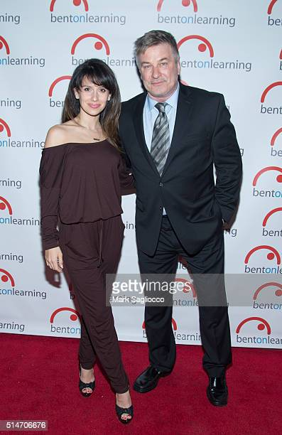 Hilaria Baldwin and Actor Alec Baldwin attend the 7th Annual Bent On Learning Inspire Gala at Capitale on March 10 2016 in New York City