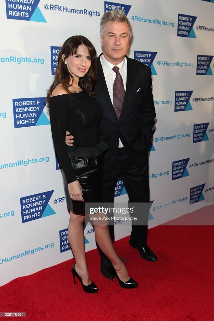 Hilaria Baldwin and Alec Baldwin attend 2016 Robert F. Kennedy Human Rights' Ripple of Hope Awards at New York Hilton Midtown on December 6, 2016 in New York City.
