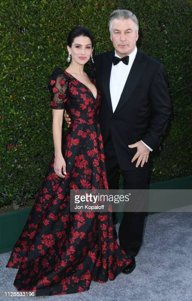 Hilaria Baldwin and Alec Baldwin attend 25th Annual Screen Actors Guild Awards at The Shrine Auditorium on January 27 2019 in Los Angeles California