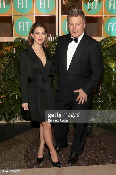 Hilaria Baldwin and Alec Baldwin attend FIT's 2019 Annual Awards Gala at American Museum of Natural History on April 03 2019 in New York City