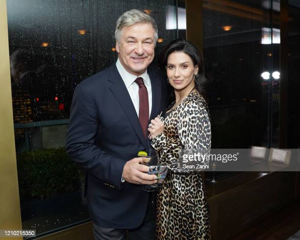 Hilaria Baldwin and Alec Baldwin attend Guild Hall Academy Of The Arts Achievement Awards 2020 at the Rainbow Room on March 03 2020 in New York City
