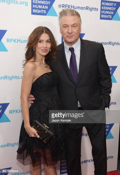 Hilaria Baldwin and Alec Baldwin attend Robert F Kennedy Human Rights Hosts Annual Ripple Of Hope Awards Dinner on December 13 2017 in New York City