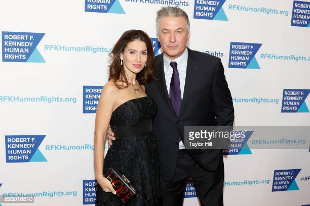 Hilaria Baldwin and Alec Baldwin attend the 2017 Ripple of Hope Awards at New York Hilton on December 13 2017 in New York City