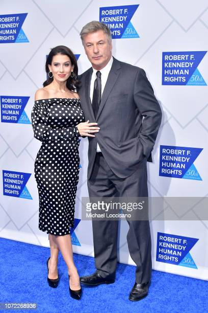 Hilaria Baldwin and Alec Baldwin attend the 2019 Robert F Kennedy Human Rights Ripple Of Hope Awards on December 12 2018 in New York City