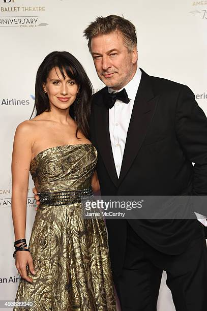 Hilaria Baldwin and Alec Baldwin attend the American Ballet 75th Anniversary Fall Gala at David H Koch Theater at Lincoln Center on October 21 2015...