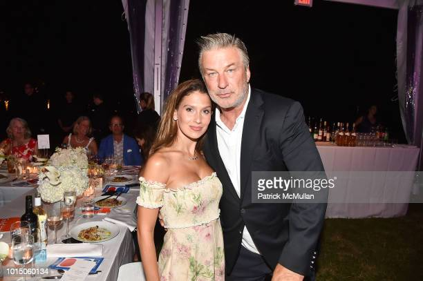 Hilaria Baldwin and Alec Baldwin attend the Guild Hall Summer Gala 2018 at Guild Hall on August 10 2018 in East Hampton New York