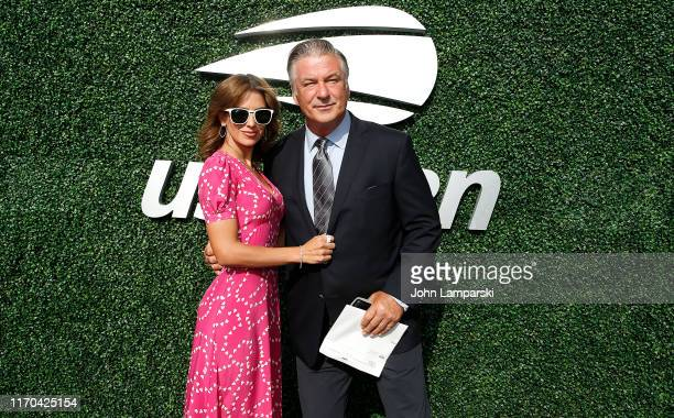 Hilaria Baldwin and Alec Baldwin attend USTA 19th Annual Opening Night Gala Blue Carpet at USTA Billie Jean King National Tennis Center on August 26,...