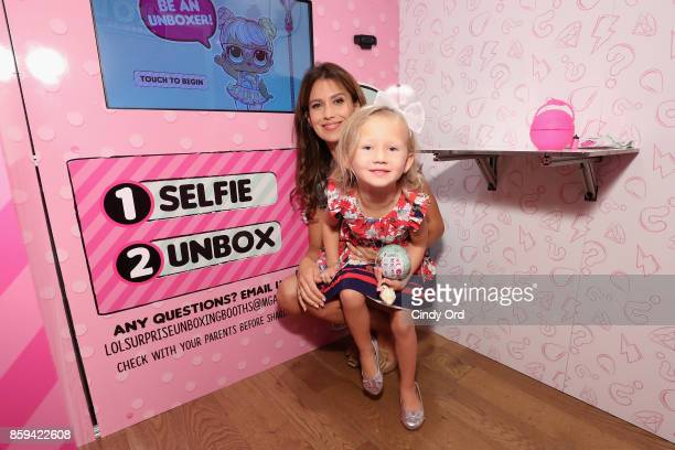 Hilaria Baldwin and her daughter Carmen Baldwin host the launch of the LOL Surprise Unboxing Video Booth and LOL Surprise Pets at Toys R Us NYC on...