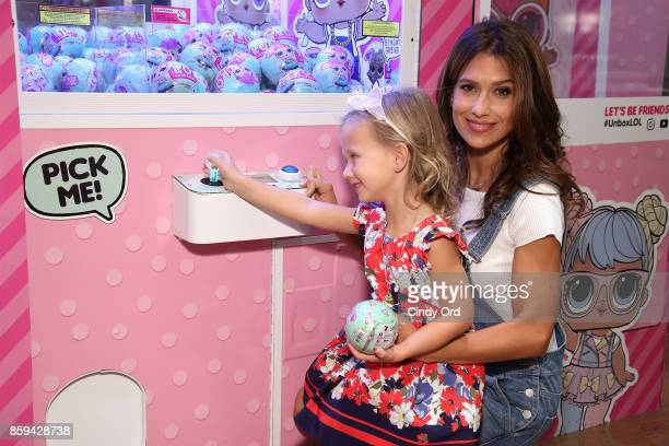 Hilaria Baldwin and her daughter Carmen Baldwin host the launch of the LOL Surprise Unboxing Video Booth and LOL Surprise Pets at Toys 'R' Us NYC on...