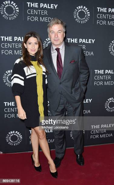 Hilaria Baldwin and husband actor Alec Baldwin attend A Paley Honors Luncheon in Alec's honor at The Paley Center for Media on November 2 2017 in New...