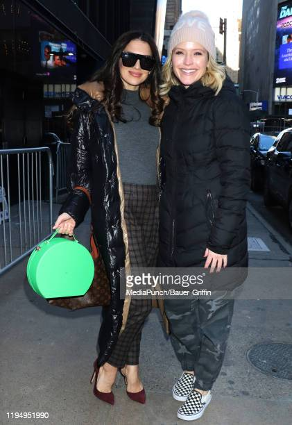 Hilaria Baldwin and Sara Haines are seen on January 20, 2020 in New York City.