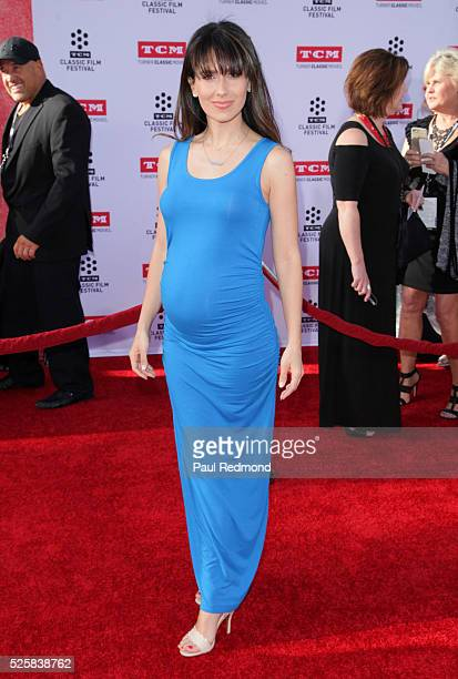 """Hilaria Baldwin arriving at the TCM Classic Film Festival 2016 Opening Night Gala 40th Anniversary Screening Of """"All The President's Men"""" at TCL..."""