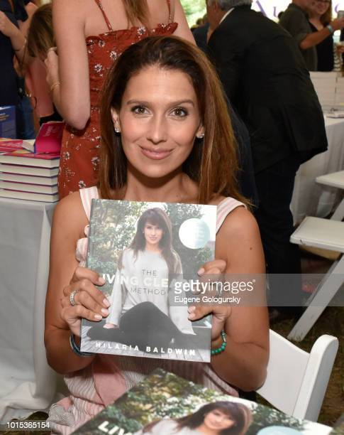 Hilaria Baldwin attends Authors Night At East Hampton Library on August 11, 2018 in East Hampton, New York.