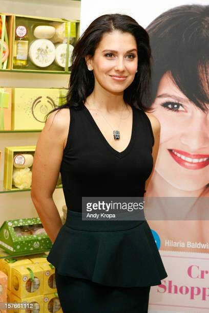 Hilaria Baldwin attends PETA's CrueltyFree Shopping Guide Launch Event at The Body Shop New York on December 5 2012 in New York City