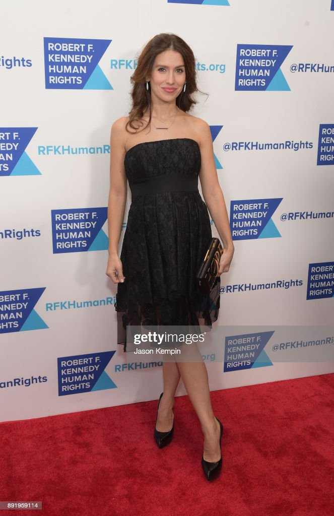 Hilaria Baldwin attends Robert F. Kennedy Human Rights Hosts Annual Ripple Of Hope Awards Dinner on December 13, 2017 in New York City.