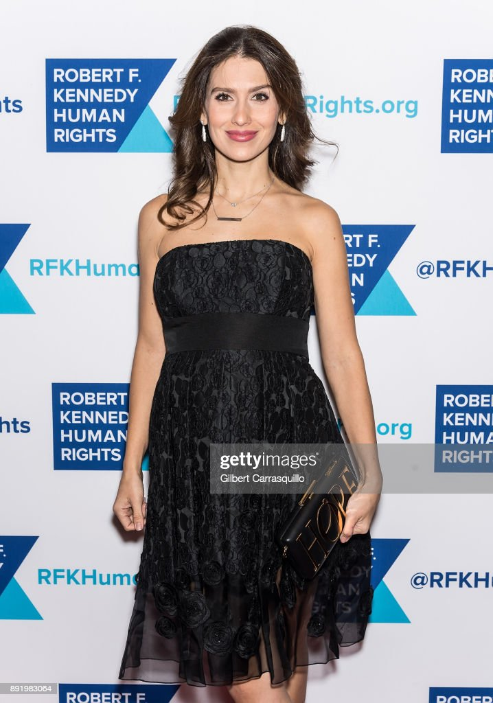 Hilaria Baldwin attends Robert F. Kennedy Human Rights Hosts Annual Ripple Of Hope Awards Dinner at New York Hilton on December 13, 2017 in New York City.