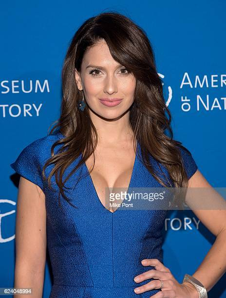 Hilaria Baldwin attends the 2016 American Museum Of Natural History Museum Gala at American Museum of Natural History on November 17 2016 in New York...