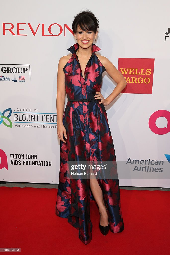 Hilaria Baldwin attends the Elton John AIDS Foundation's 13th Annual An Enduring Vision Benefit at Cipriani Wall Street powered by CIROC Vodka on October 28, 2014 in New York City.