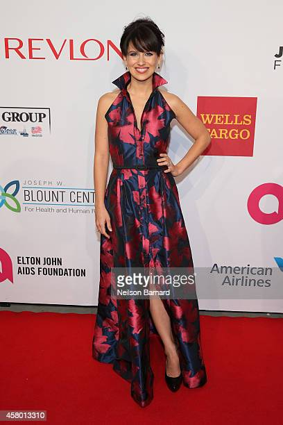 Hilaria Baldwin attends the Elton John AIDS Foundation's 13th Annual An Enduring Vision Benefit at Cipriani Wall Street powered by CIROC Vodka on...