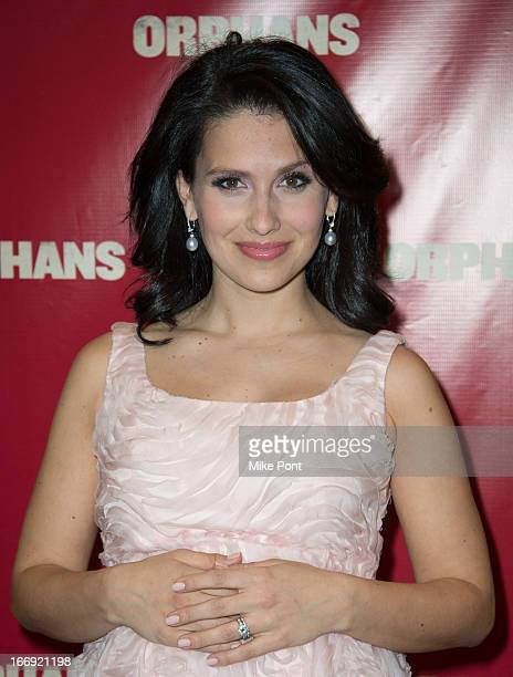Hilaria Baldwin attends the Orphans Broadway opening night at the Gerald Schoenfeld Theatre on April 18 2013 in New York City
