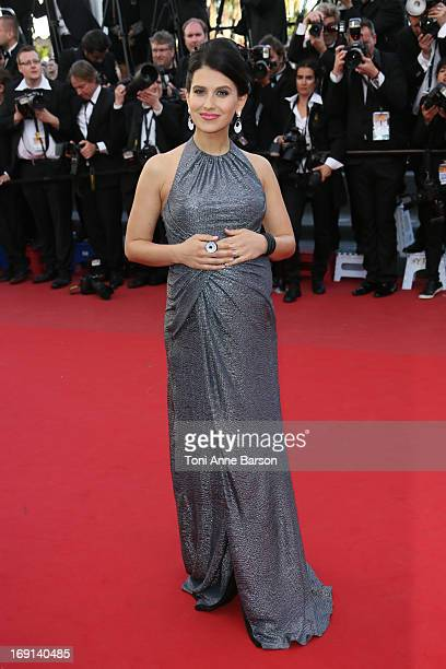 Hilaria Baldwin attends the premiere of 'Blood Ties' during the 66th Annual Cannes Film Festival at the Palais des Festivals on May 20 2013 in Cannes...