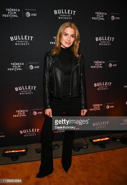 Hilaria Baldwin attends the Tribeca Film Festival AfterParty For Crown Vic Hosted By Bulleit at Bulleit Lounge on April 26 2019 in New York City