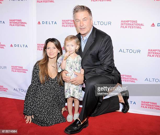 Hilaria Baldwin Carmen Baldwin and Alec Baldwin attend the Opening Night Film Screening of Loving during the Hamptons International Film Festival...