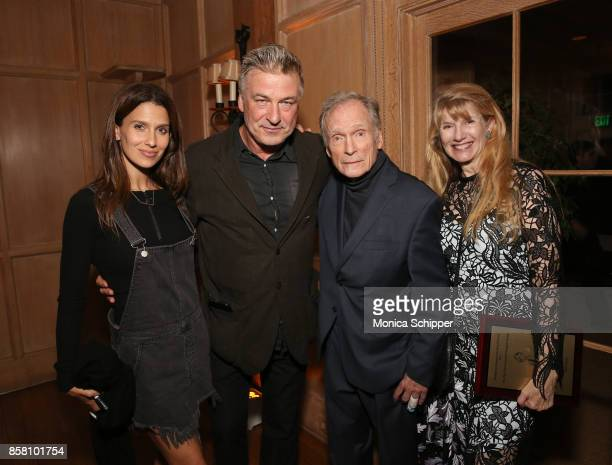 Hilaria Baldwin Co Chair of the Hamptons International Film Festival Alec Baldwin Honoree Dick Cavett and Martha Rogers attend the Opening Night...