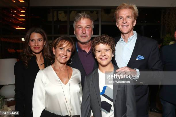 Hilaria Baldwin Gabrielle Carteris Alec Baldwin Gaten Matarazzo and Matthew Modine attend The Hollywood Reporter and SAGAFTRA Inaugural Emmy Nominees...