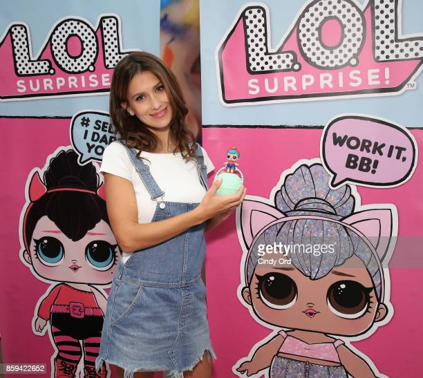 Hilaria Baldwin hosts the launch of the LOL Surprise Unboxing Video Booth and LOL Surprise Pets at Toys 'R' Us NYC on October 9 2017 in New York City
