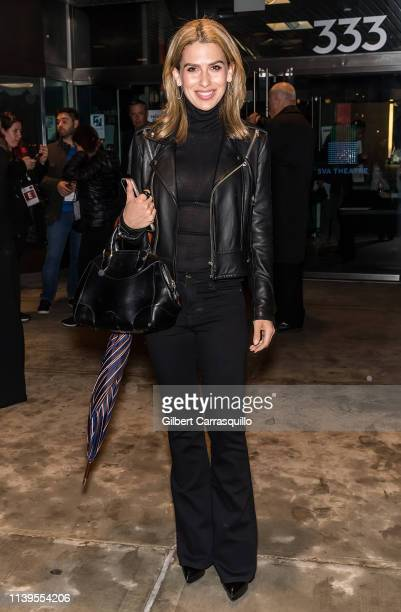 Hilaria Baldwin is seen leaving the 'Crown Vic' screening at the 2019 Tribeca Film Festival at SVA Theater on April 26 2019 in New York City