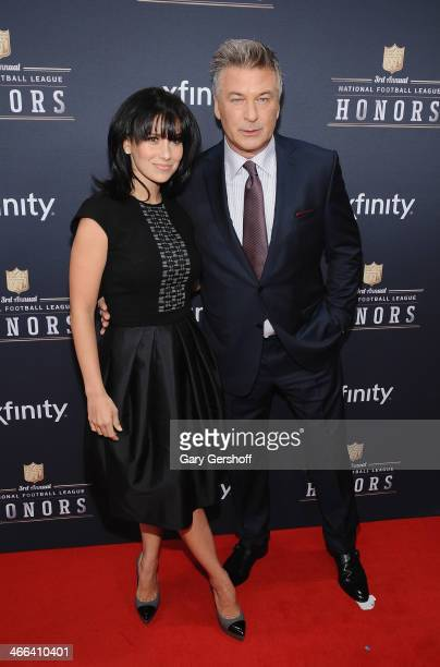 Hilaria Thomas and Alec Baldwin attend the 3rd Annual NFL Honors at Radio City Music Hall on February 1, 2014 in New York City.