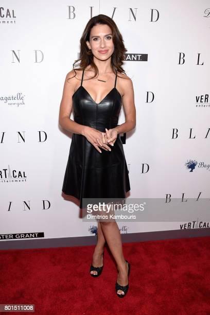 "Hilaria Thomas attends the ""Blind"" premiere at Landmark Sunshine Cinema on June 26, 2017 in New York City."