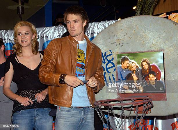 Hilarie Burton and Chad Michael Murray during Gavin Degraw and Cast Members of One Tree Hill Apear at Planet Hollywood New York at Planet Hollywood...