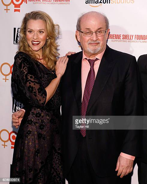 Hilarie Burton and Salman Rushdie attend the Adrienne Shelly Foundation 10th Anniversary Gala at The Angel Orensanz Foundation on December 5 2016 in...