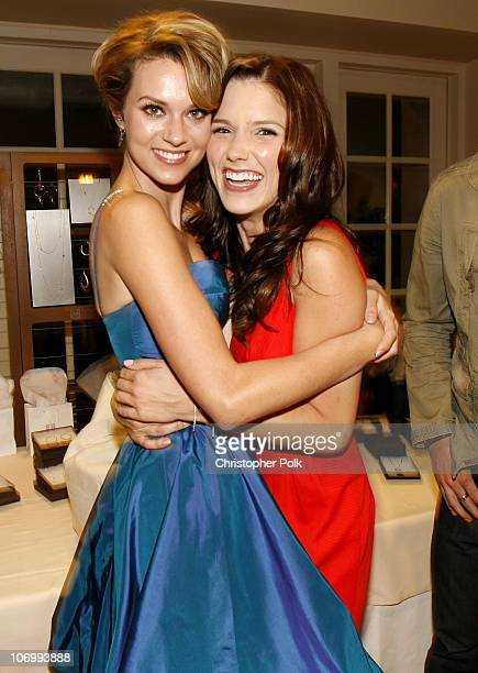 Hilarie Burton and Sophia Bush during CW Launch Party Inside at WB Main Lot in Burbank California United States