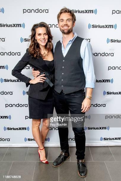Hilarie Burton and Tyler Hilton visit SiriusXM Studios on November 19, 2019 in New York City.