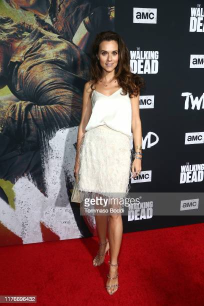 Hilarie Burton attends The Walking Dead Premiere and Party on September 23 2019 in West Hollywood California