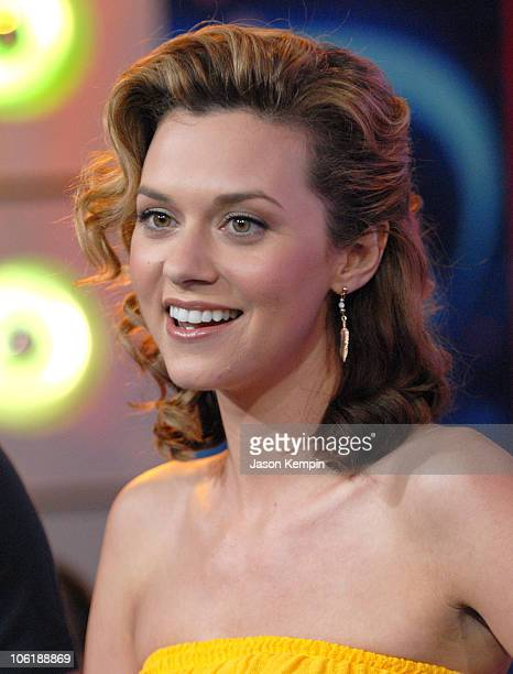 Hilarie Burton during Hilarie Burton Visits MTV's 'TRL' May 15 2007 at MTV Studios in New York City New York United States