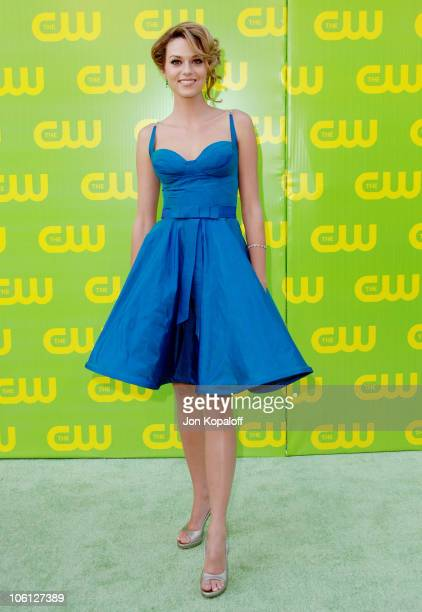 Hilarie Burton during The CW Launch Party Arrivals at WB Main Lot in Burbank California United States