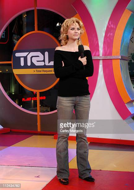 """Hilarie Burton of """"One Tree Hill"""" during The Cast of """"One Tree Hill"""" Takes Over MTV's """"TRL"""" - January 25, 2005 at MTV Studios in New York City, New..."""